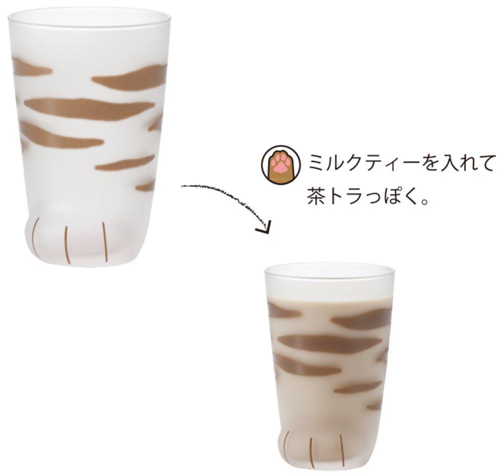 秋田 かぎしっぽ 猫雑貨 ここねこグラス トラ