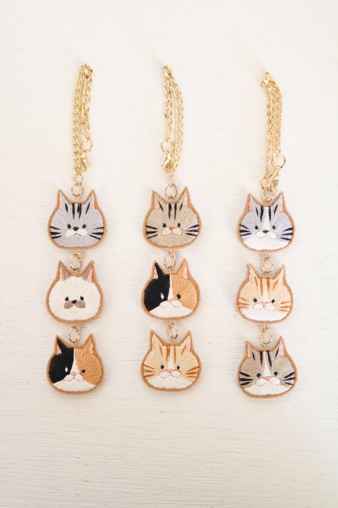 chic_chic_cat 刺繍 猫雑貨 秋田 かぎしっぽ ハンドメイド