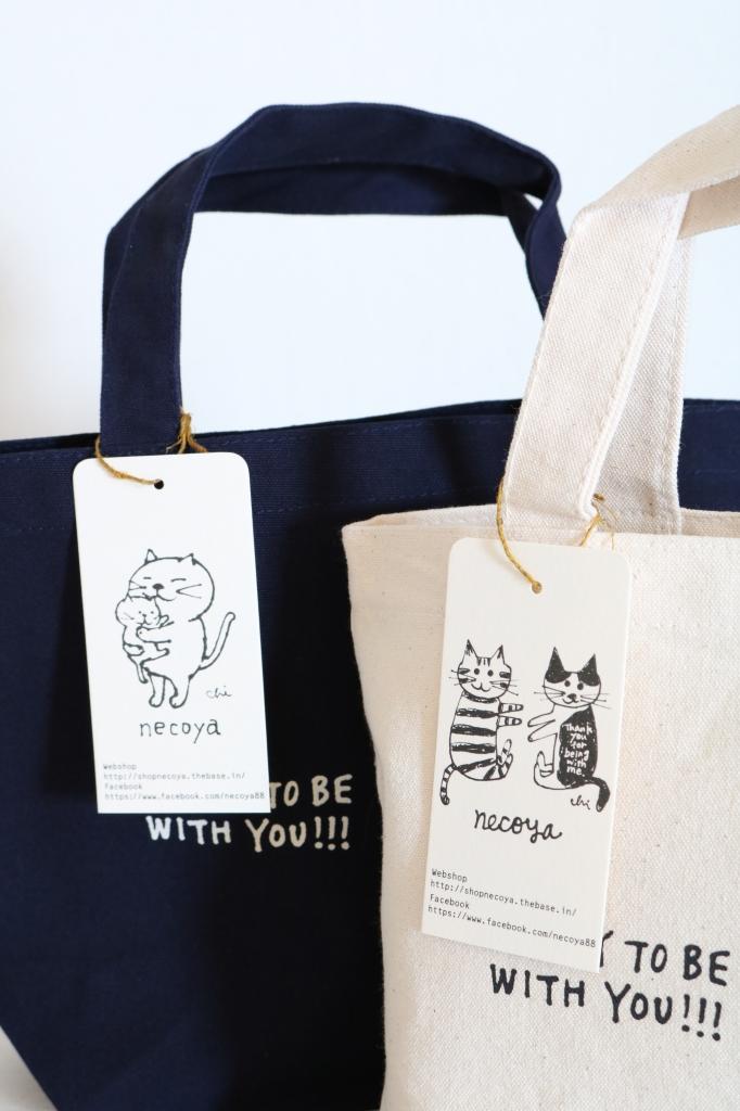 カミムラアキコ necoya 猫雑貨 トートバッグ 秋田 かぎしっぽ