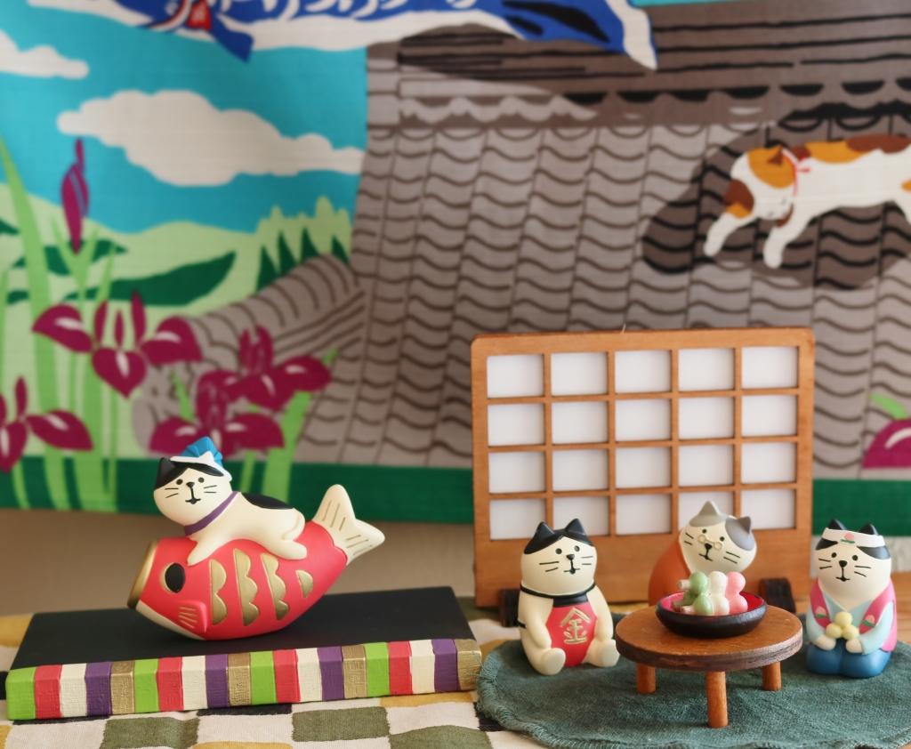 猫雑貨 秋田 かぎしっぽ コンコンブル 五月猫 concombre
