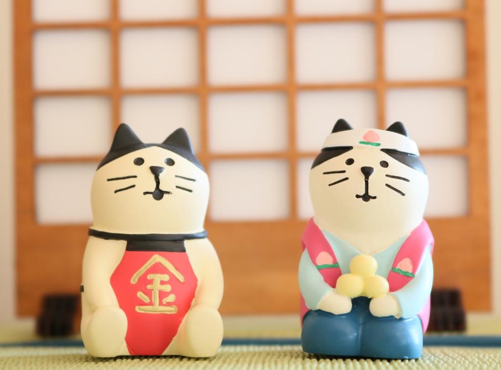 猫雑貨 秋田 かぎしっぽ コンコンブル concombre 五月飾り 金太郎 桃太郎