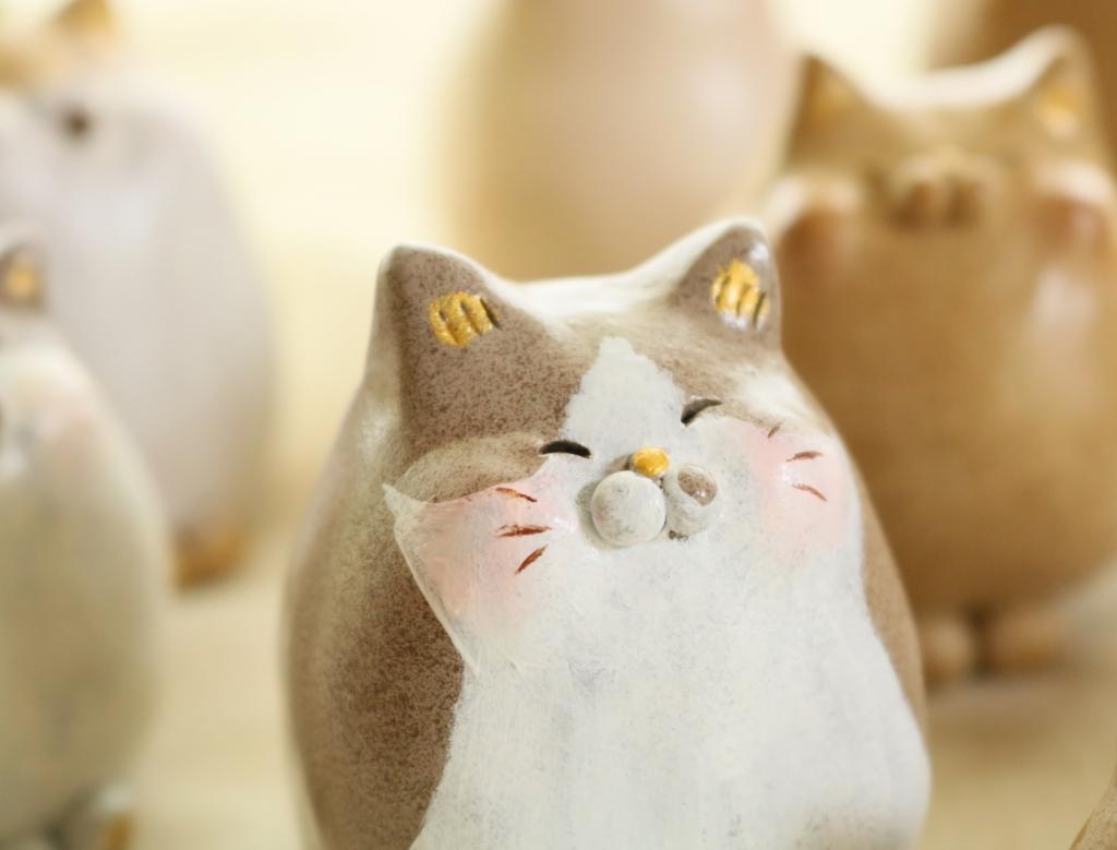 にゃん家の団欒 にゃんこ鉢 猫雑貨 秋田 かぎしっぽ ハンドメイド