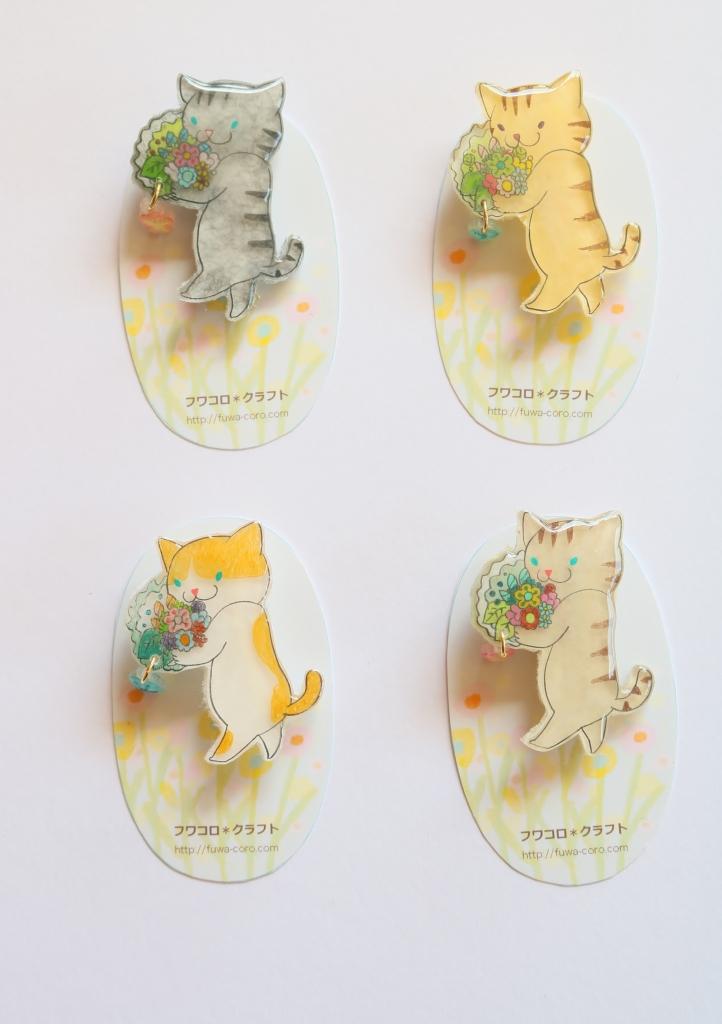 フワコロクラフト 猫雑貨 ハンドメイド ブローチ 秋田 かぎしっぽ