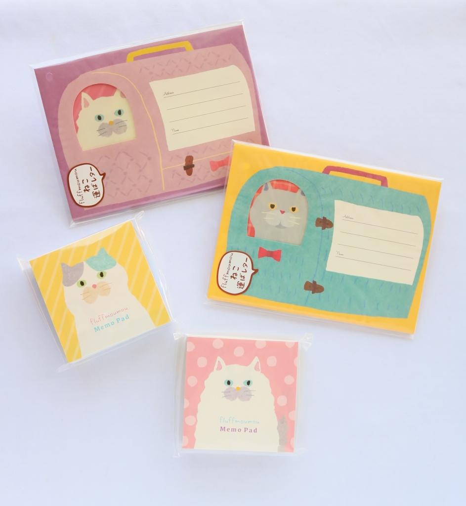 猫雑貨 秋田 かぎしっぽ レターセット オリエンタルベリー ねこ運ばレター