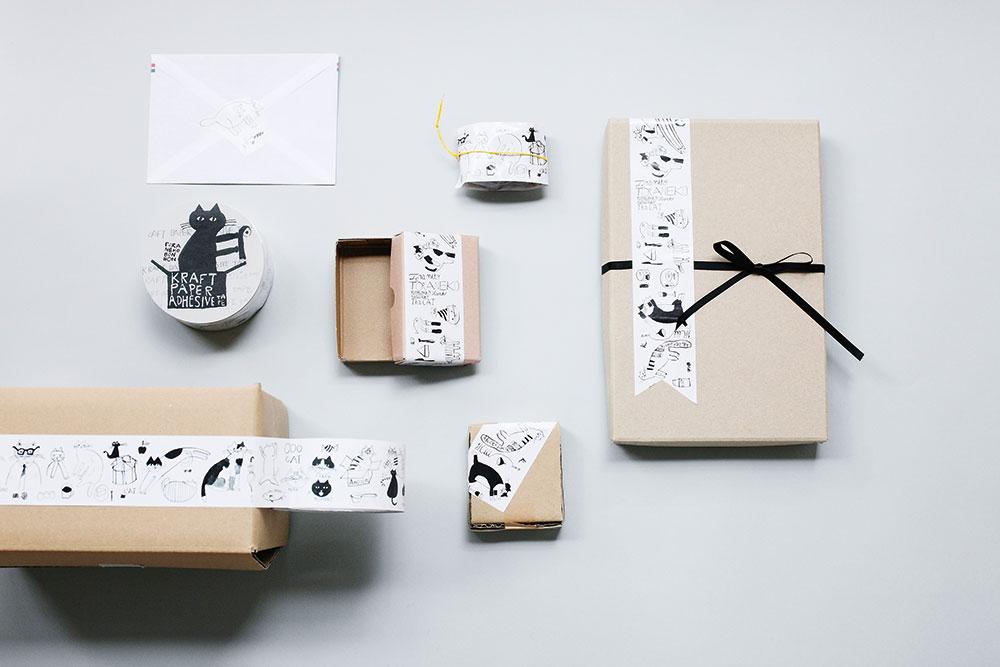 トラネコボンボン 倉敷意匠 クラフトテープ 猫雑貨 秋田 かぎしっぽ