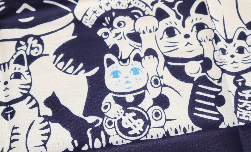 猫雑貨 手ぬぐい 秋田 かぎしっぽ