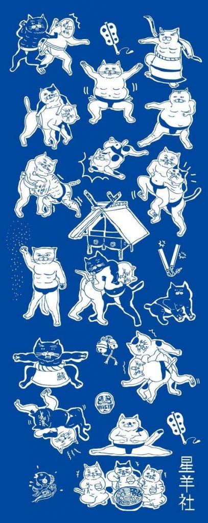猫雑貨 猫グッズ 秋田 かぎしっぽ 相撲 おちゃんこ倶楽部