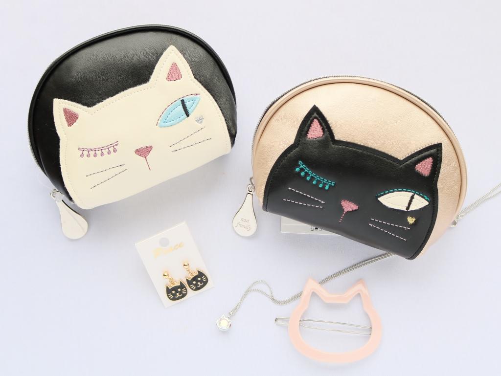 ノアファミリー ポーチ シャレ猫ジュエリーポーチ 猫雑貨 猫グッズ 秋田 かぎしっぽ