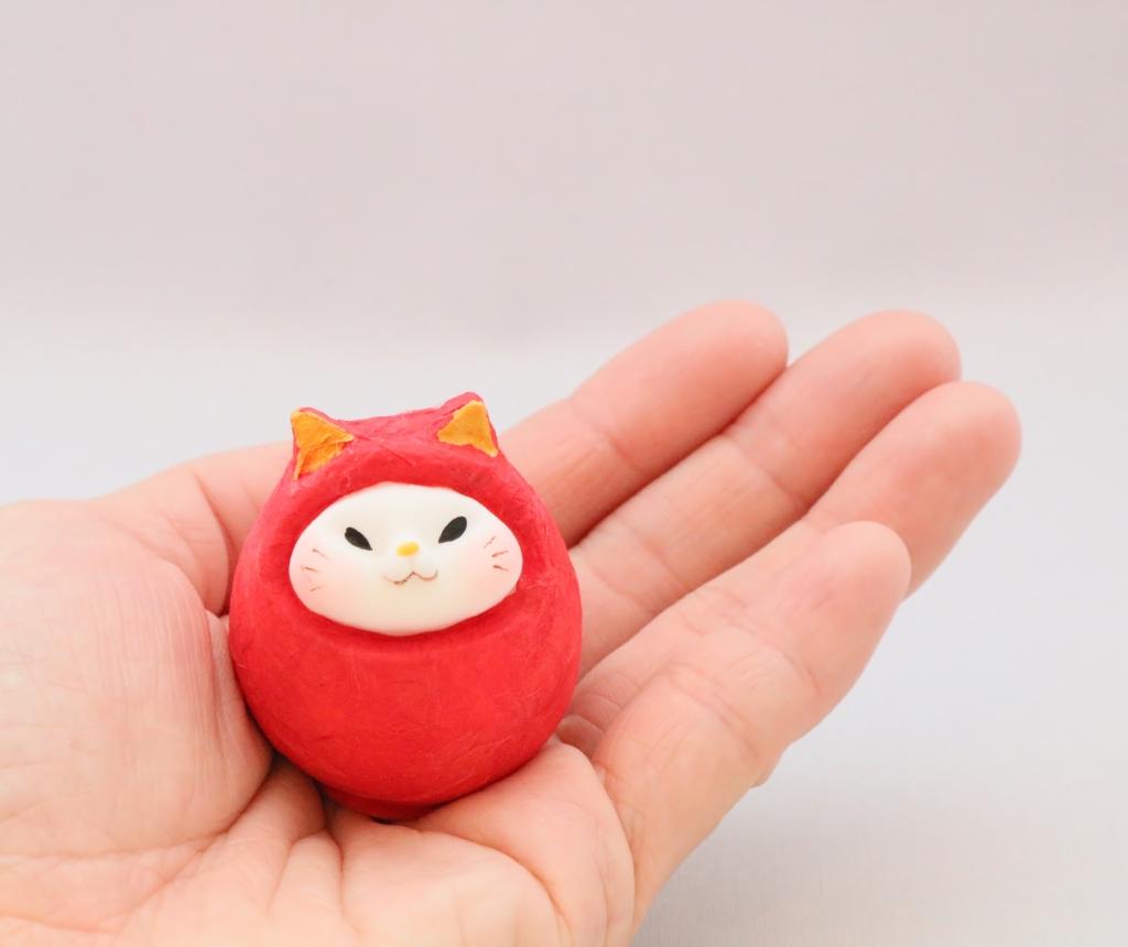 猫雑貨 猫グッズ にゃんだるま だるま 秋田 かぎしっぽ