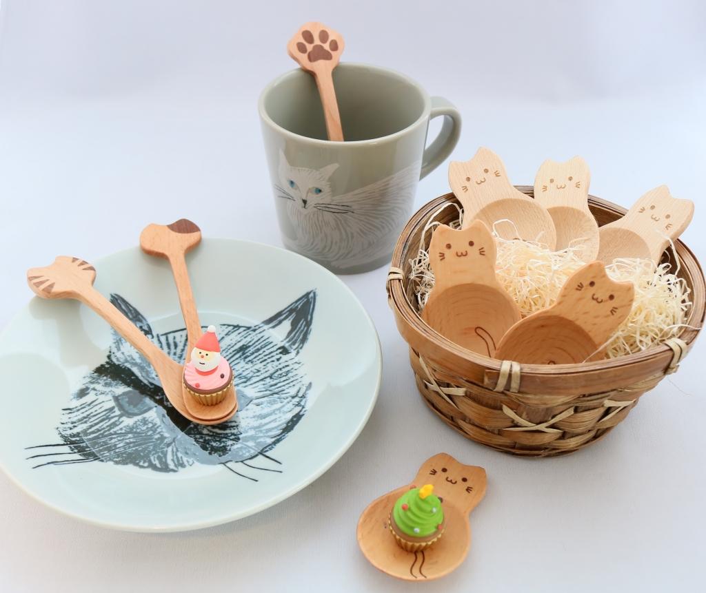 猫雑貨 猫グッズ スプーン 皿 プレート 秋田 かぎしっぽ