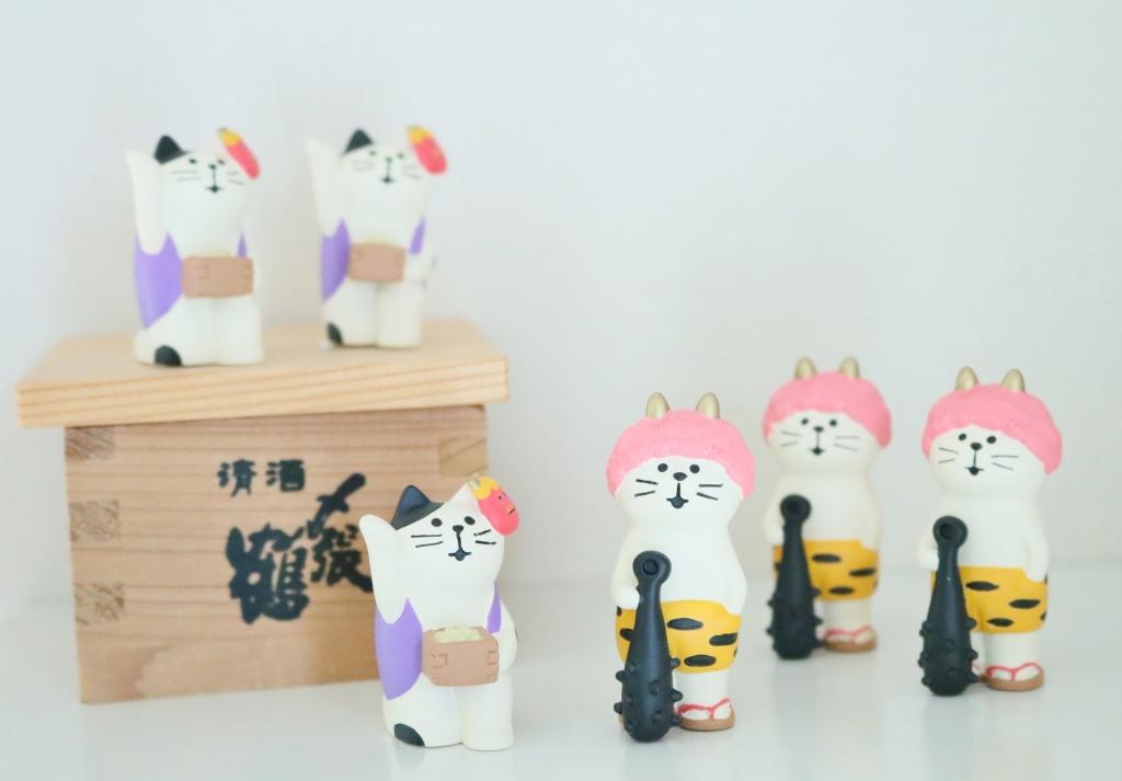 猫雑貨  猫グッズ 秋田 かぎしっぽ コンコンブル 豆まき猫 鬼っこ猫