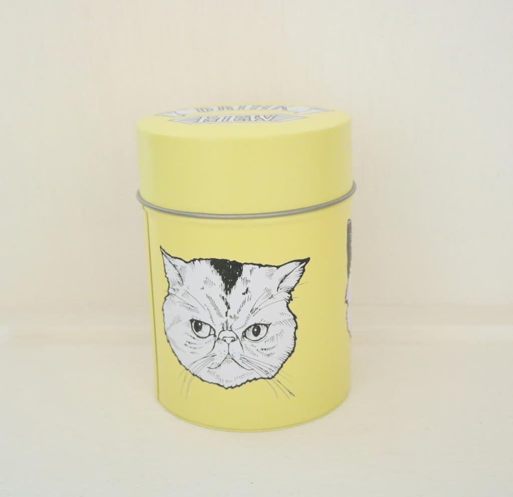 猫雑貨 猫グッズ 秋田 かぎしっぽ クッキーボーイ コーヒー缶 ブリキ缶