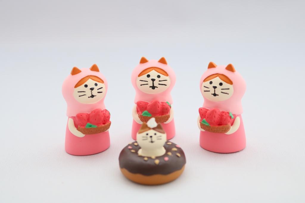 デコレ コンコンブル concombre 猫雑貨 猫グッズ 秋田 かぎしっぽ いちご