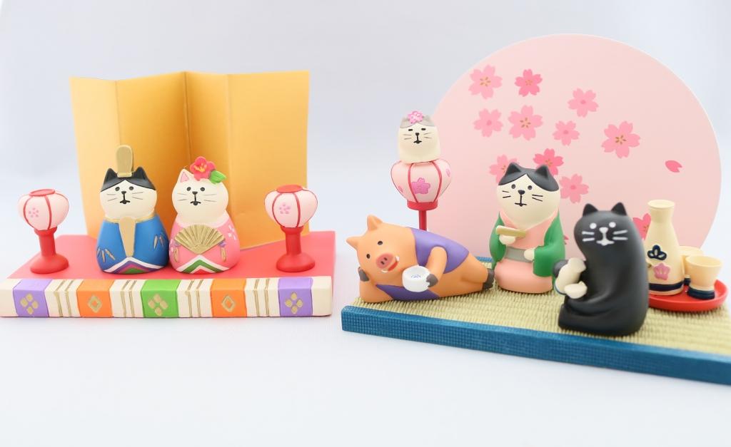 デコレ コンコンブル concombre 猫雑貨 猫グッズ 秋田 かぎしっぽ ひな祭り 雛祭り