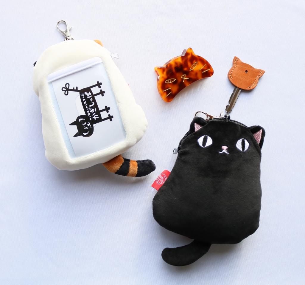 猫雑貨 猫グッズ 秋田 かぎしっぽ 猫3兄弟 もちもちパスケース