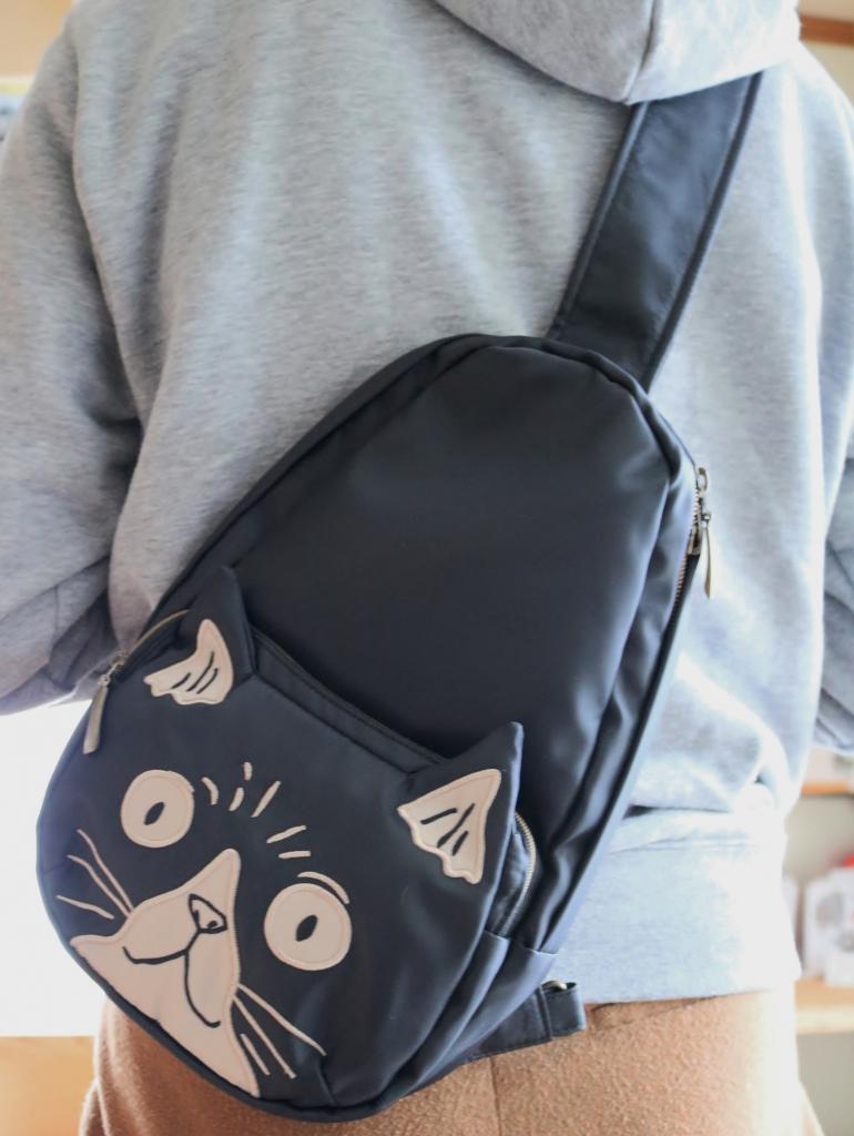 猫雑貨 猫グッズ ボディバッグ ノアファミリー 秋田 かぎしっぽ