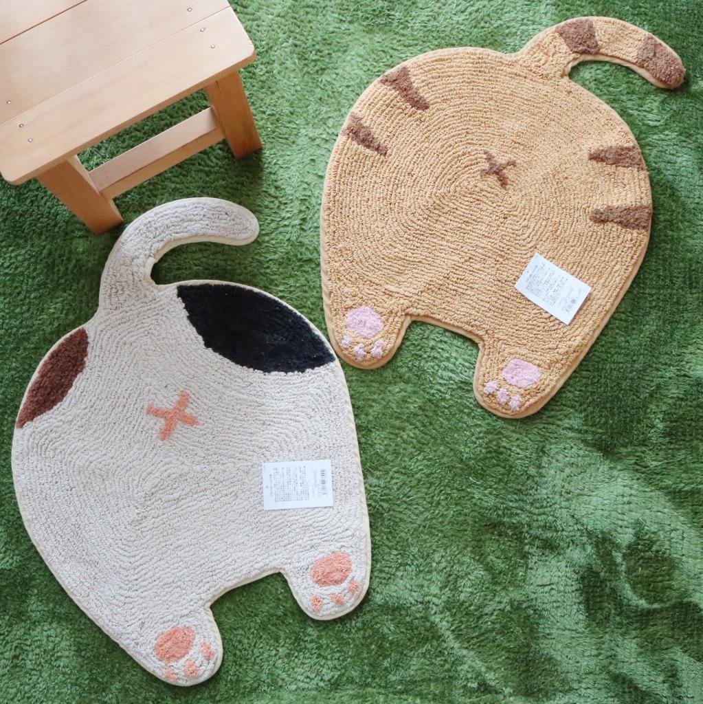 猫雑貨 猫グッズ 秋田 かぎしっぽ マット ネコのおしりマット