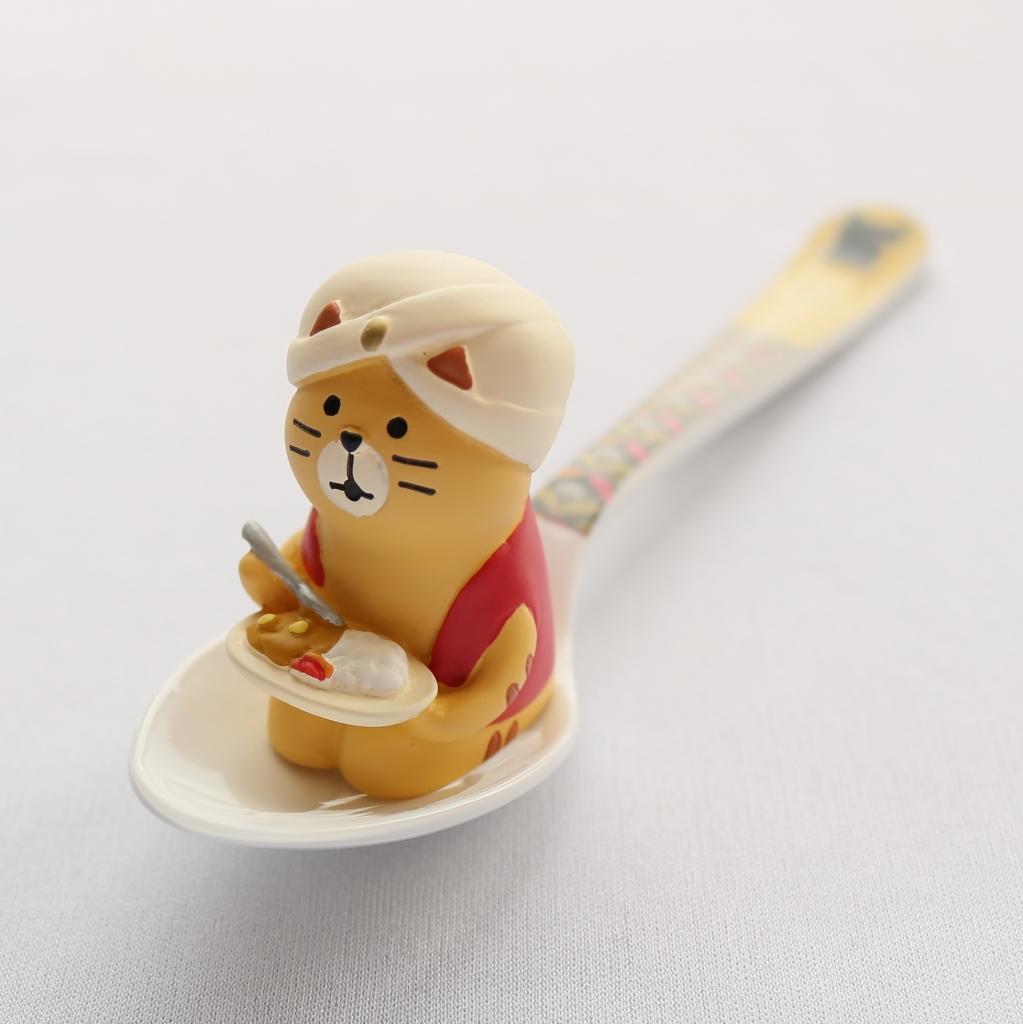 猫雑貨 猫グッズ コンコンブル メラミンスプーン スプーン 秋田 かぎしっぽ