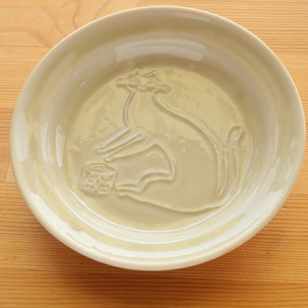 トラネコボンボン 豆皿 猫雑貨 猫グッズ 秋田 かぎしっぽ