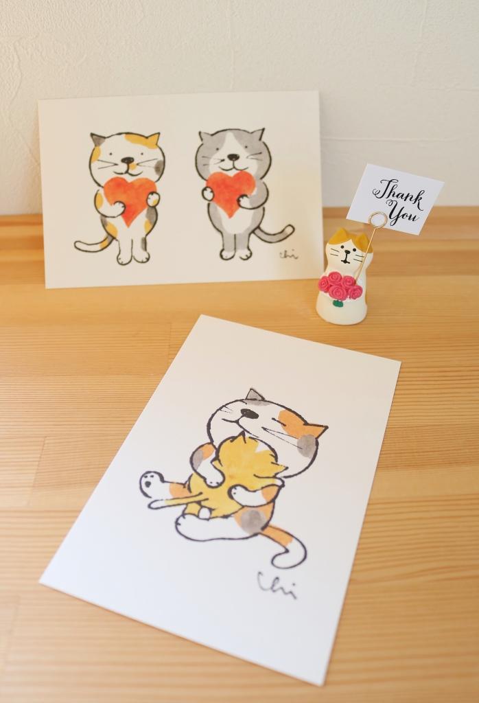 猫雑貨 猫グッズ 秋田 かぎしっぽ ポストカード necoya