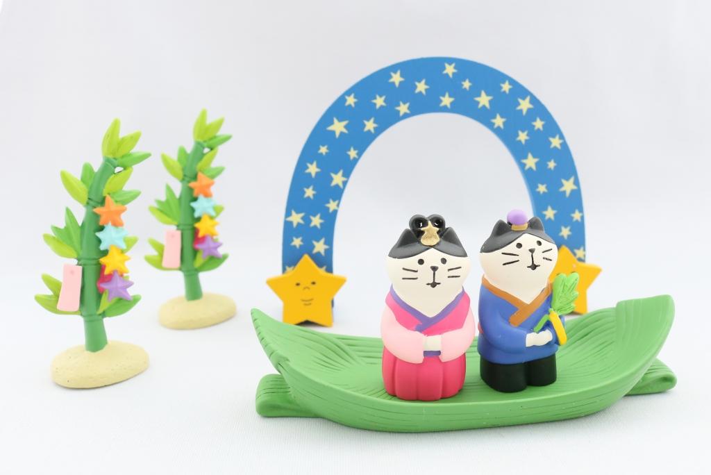 コンコンブル concombre 七夕 秋田 かぎしっぽ 猫雑貨 猫グッズ