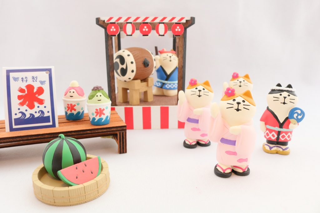 コンコンブル concombre 夏祭り 秋田 かぎしっぽ 猫雑貨 猫グッズ