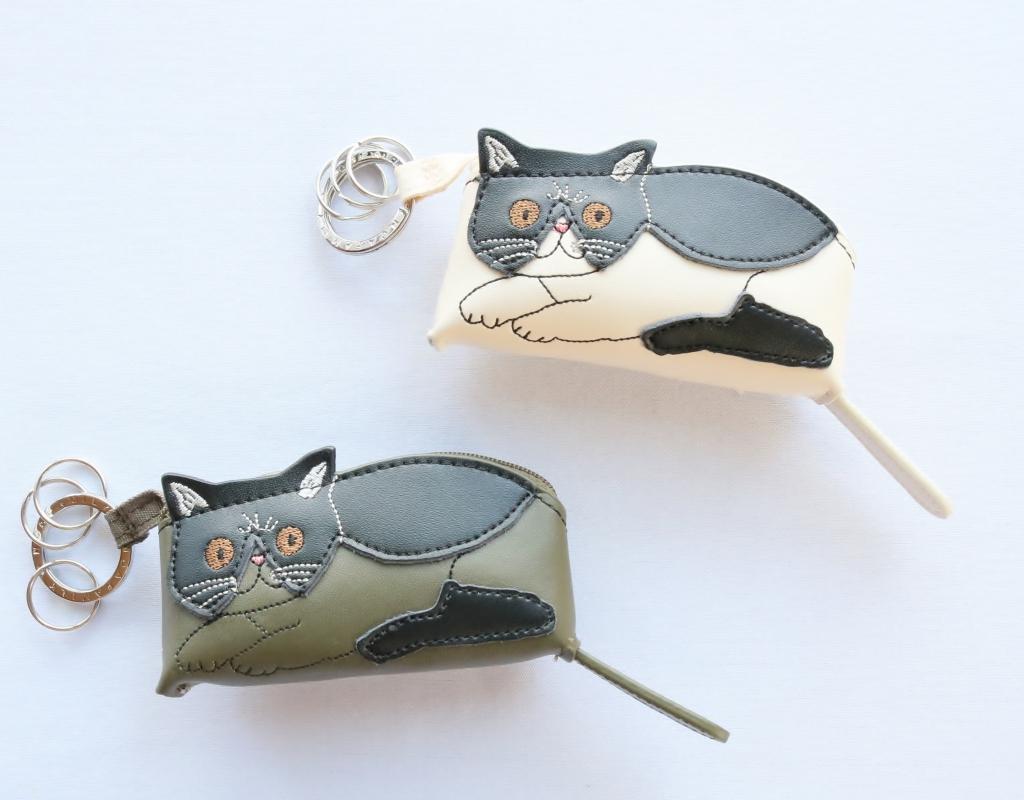 猫雑貨 猫グッズ キーケース キーホルダー 秋田 かぎしっぽ