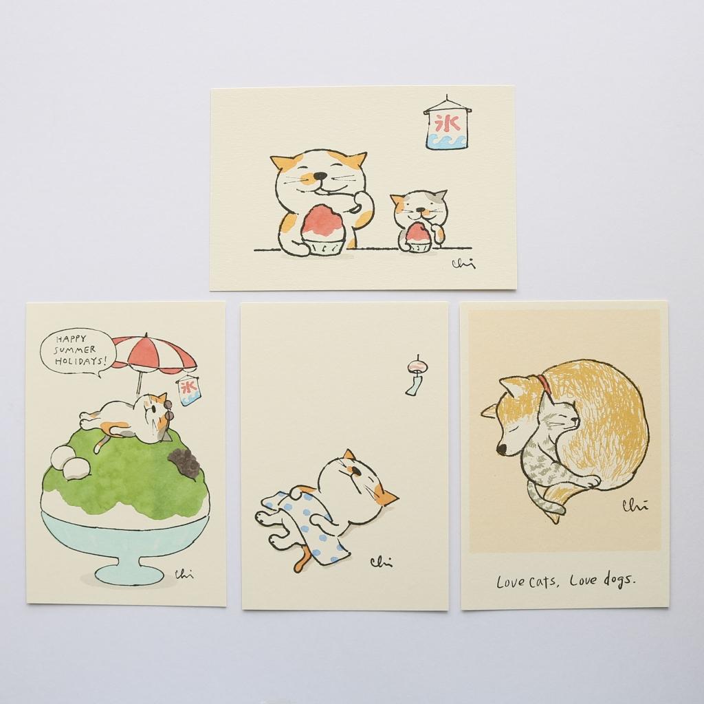 猫雑貨 猫グッズ 秋田 かぎしっぽ ポストカード necoya カミムラアキコ
