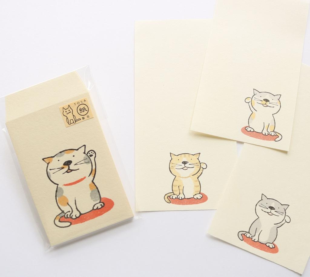 猫雑貨 猫グッズ 秋田 かぎしっぽ ポチ袋 一筆箋 necoya カミムラアキコ