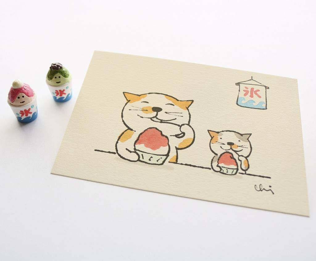 猫雑貨 猫グッズ ポストカード にゃんきーとす カミムラアキコ 秋田 かぎしっぽ