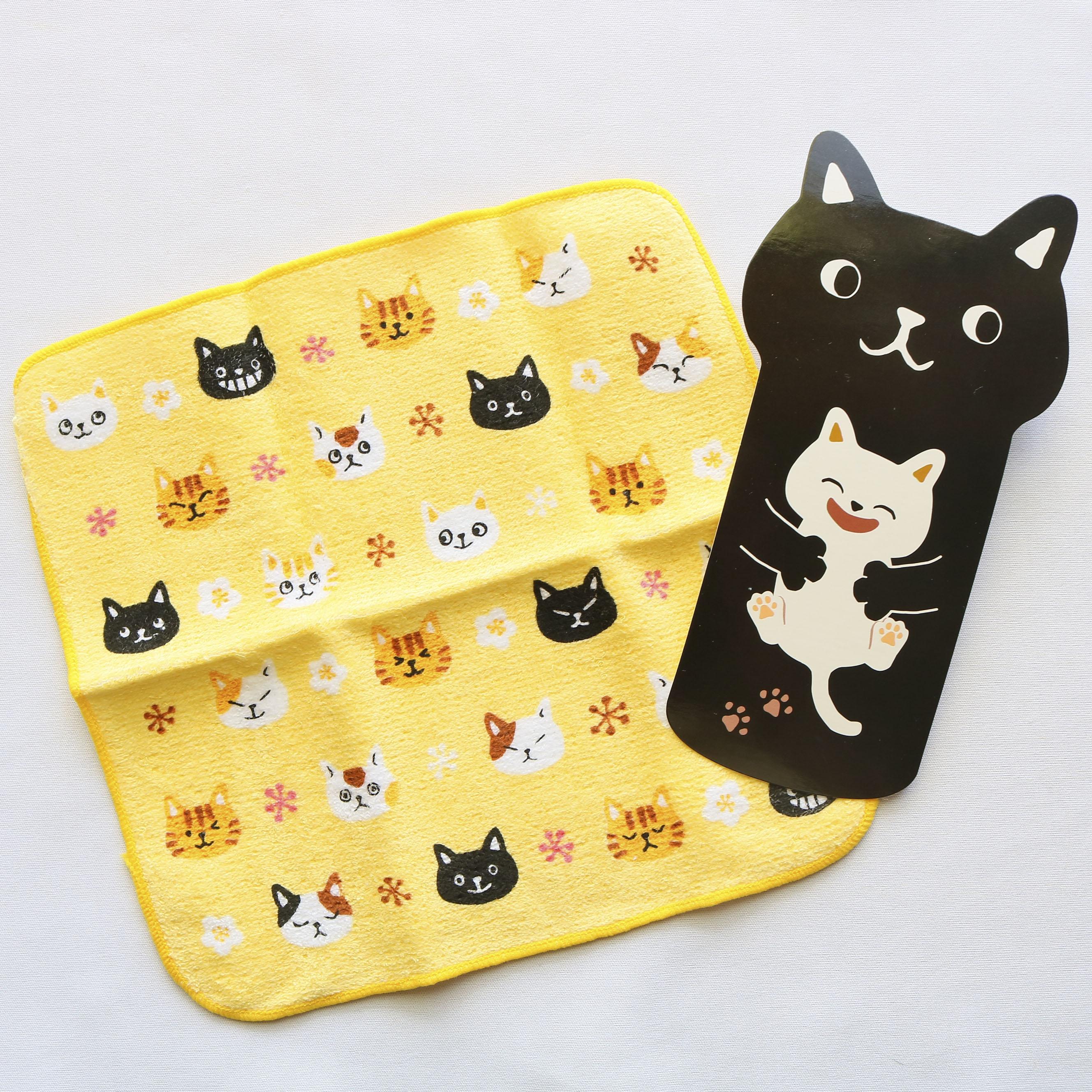 猫雑貨 猫グッズ 秋田 かぎしっぽ タオル ハンカチ