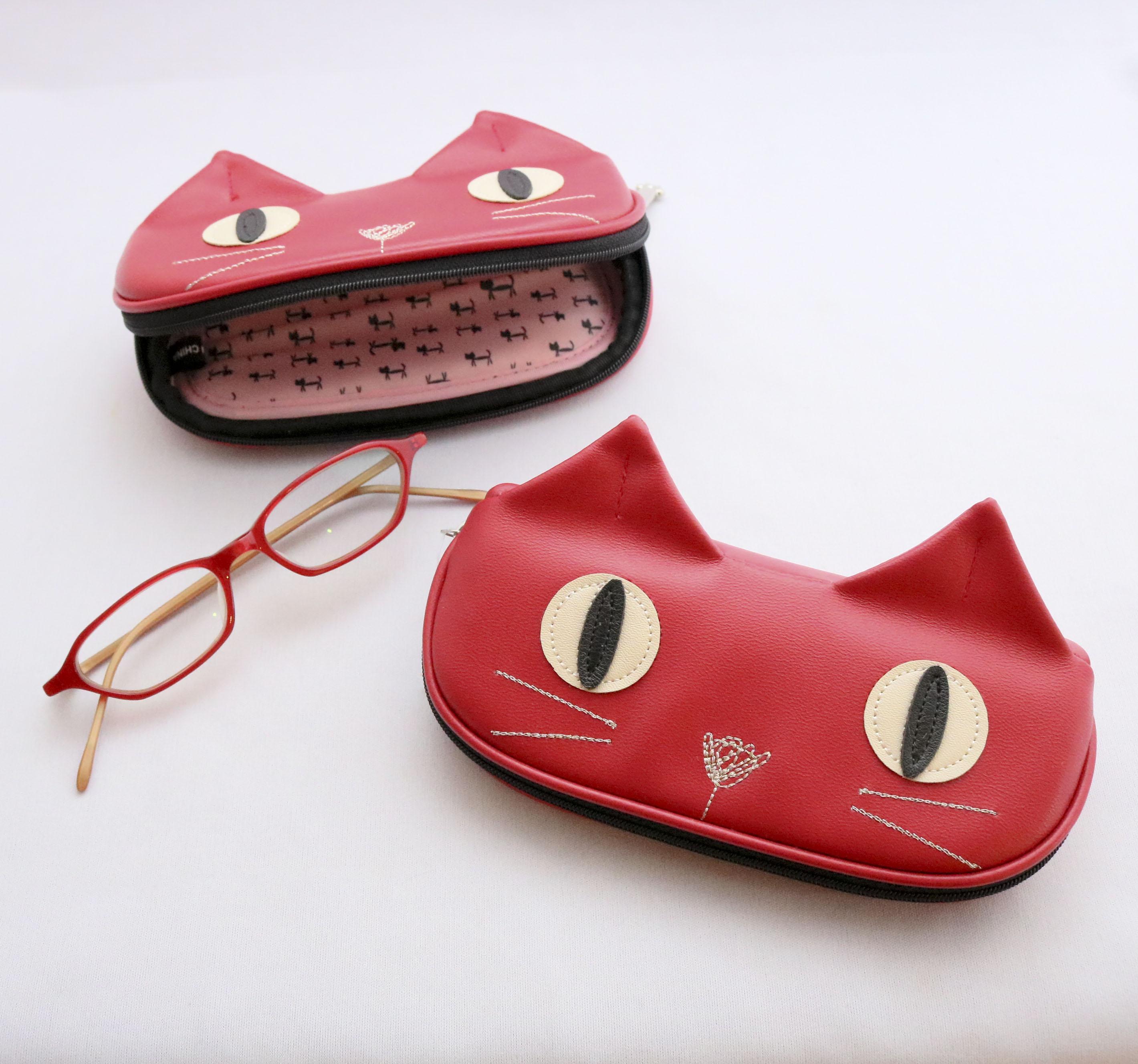 眼鏡ケース 猫雑貨 猫グッズ 秋田 かぎしっぽ メガネケース