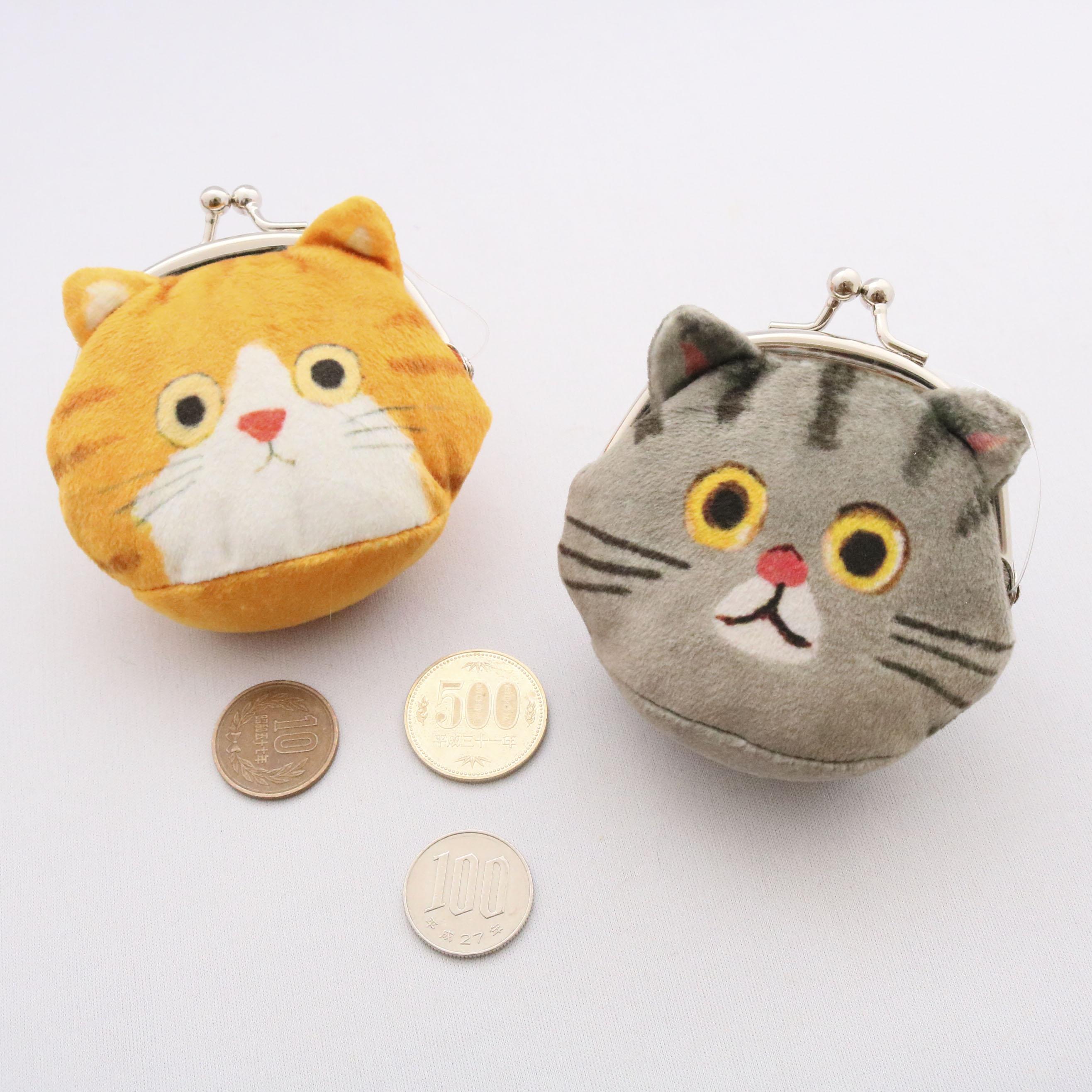 秋田 かぎしっぽ 猫雑貨 猫グッズ スマホポーチ がま口ポーチ