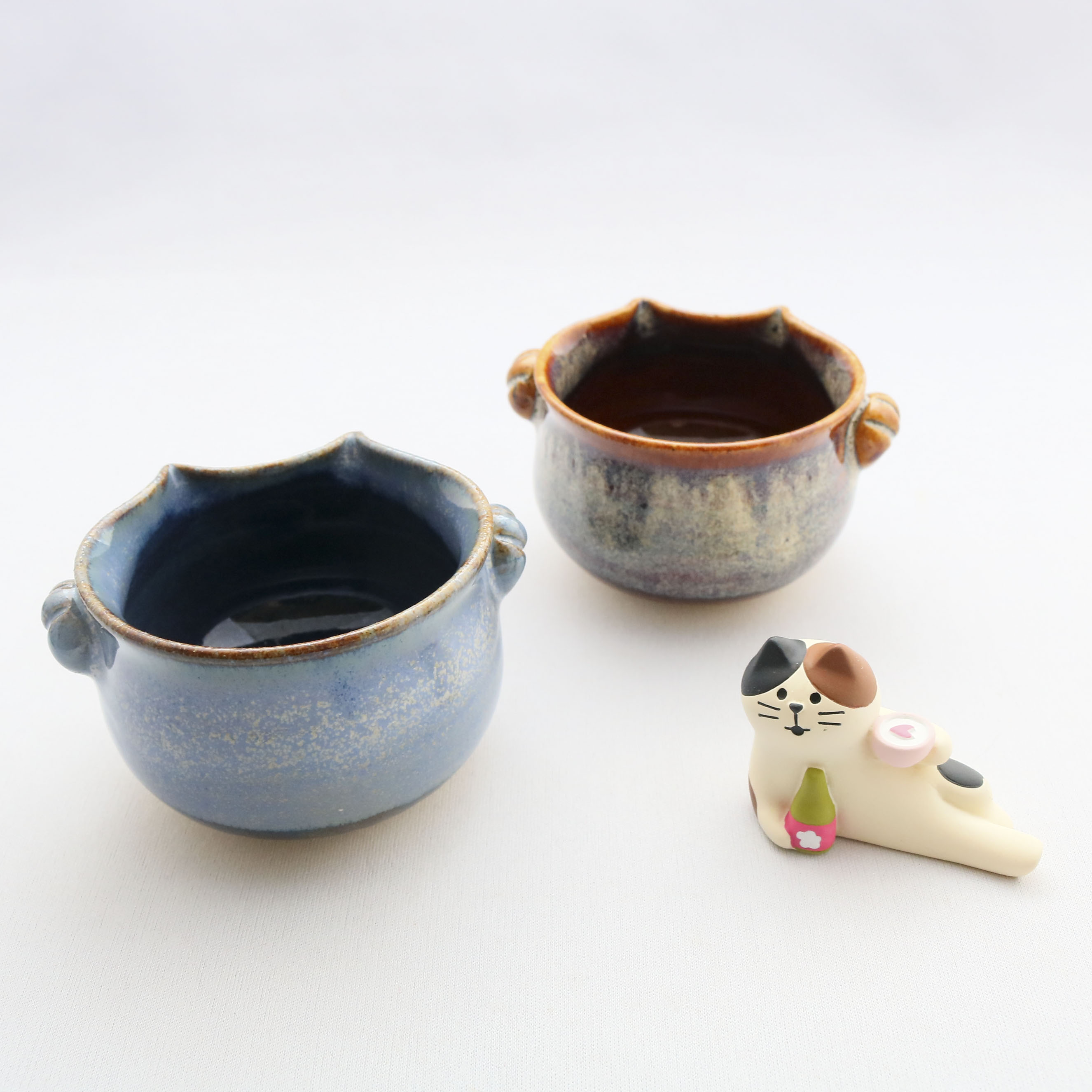 kijn 猫雑貨 猫グッズ ぐいのみ 酒器 陶芸 器 秋田 かぎしっぽ