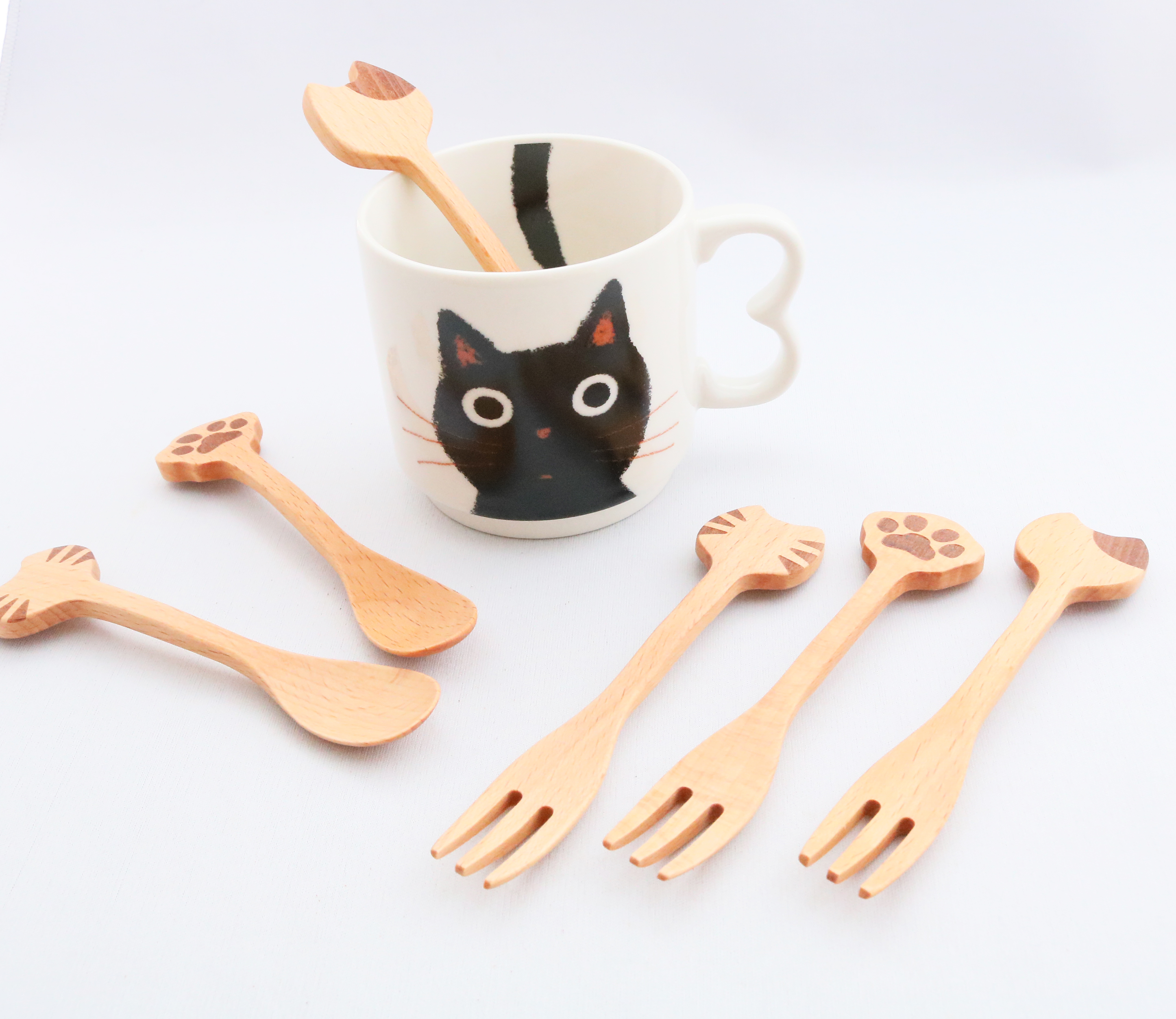 猫雑貨 猫グッズ スプーン フォーク 秋田 かぎしっぽ