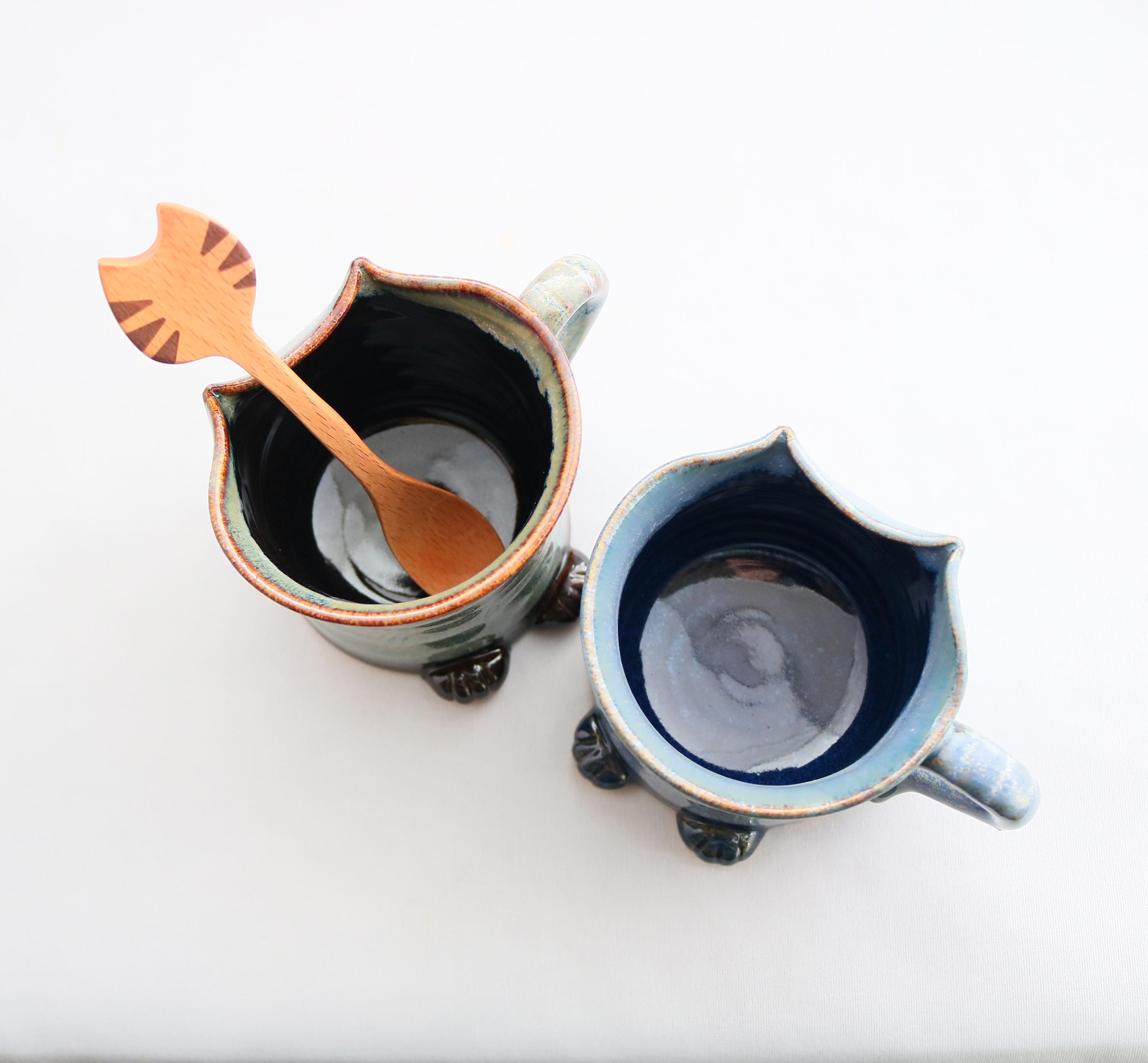 kijin 猫雑貨 猫グッズ 秋田 かぎしっぽ マグカップ 陶器 ハンドメイド