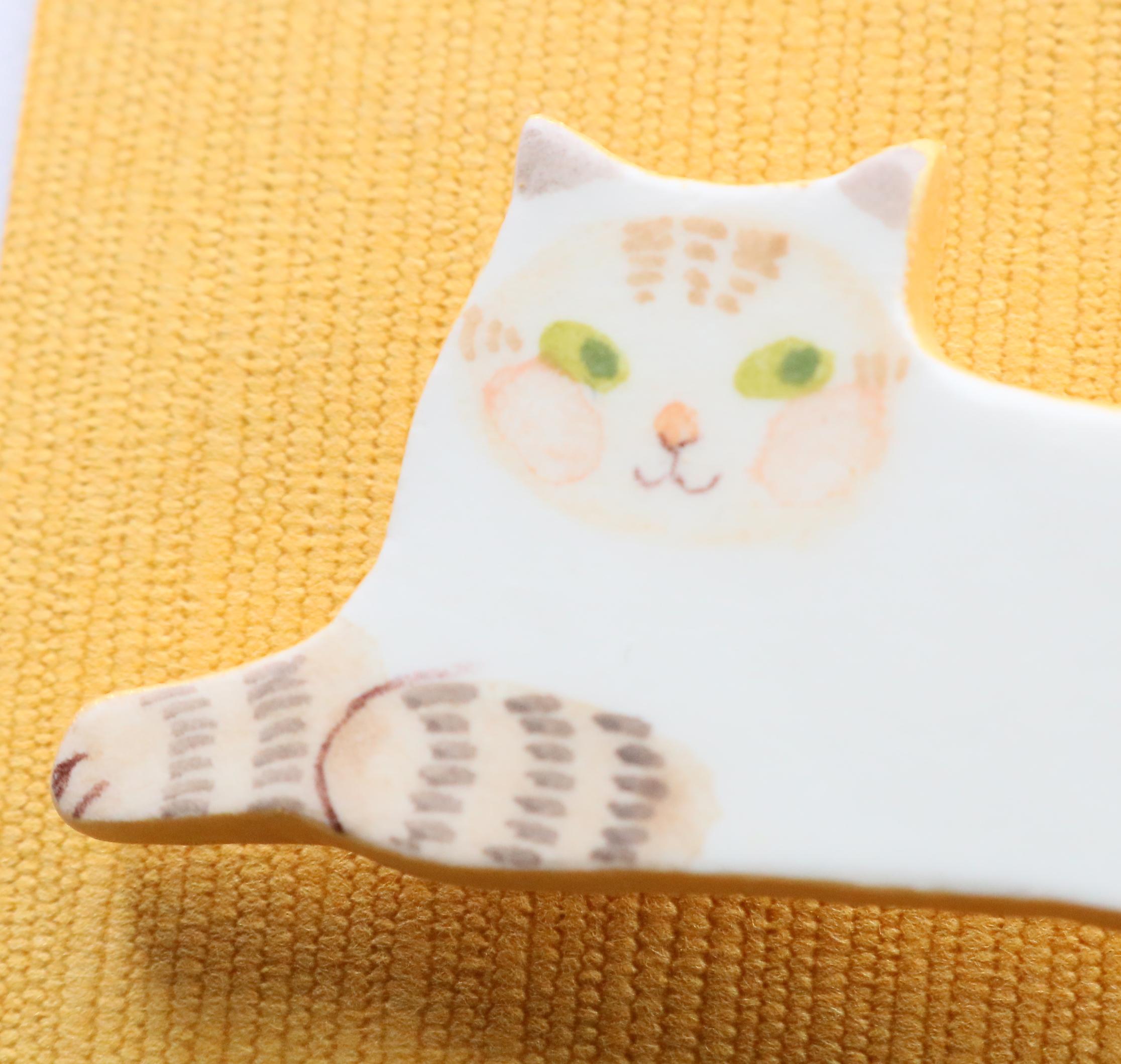 猫雑貨 猫グッズ 秋田 かぎしっぽ ハンドメイド ブローチ