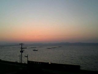 小浜温泉 夕陽