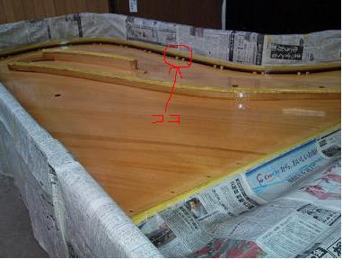 響鳴板のダボの説明