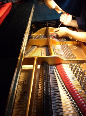 グランドピアノの弦間隔を合わすヒラ