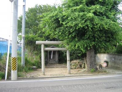 岡田神明社地震前