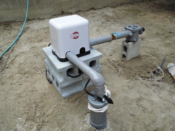 井戸ポンプ設置完了!