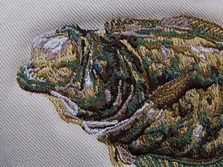 刺繍加工:ヒラメ