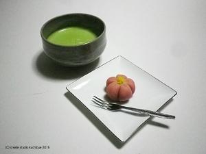 抹茶とお菓子1