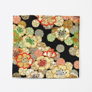 古袱紗(通常サイズ)・黒地桜紋金襴