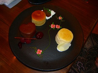 スフレセット お薦めケーキ(1000円)