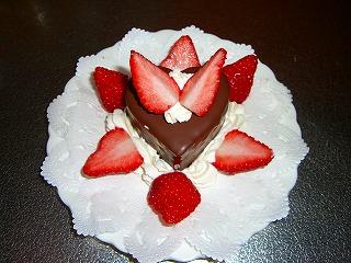 ゆうすみオリジナルバレンタインチョコケーキ♪