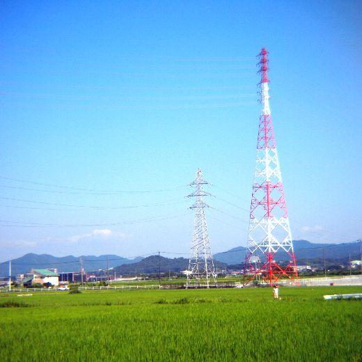 鉄塔の見える風景