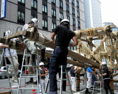祇園祭、鉾建て