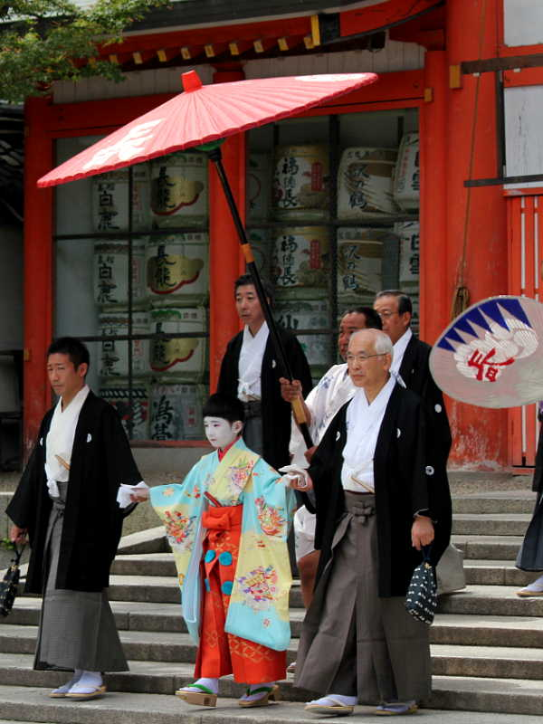 八坂神社、長刀鉾お千度